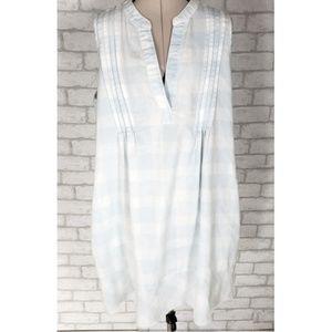 Oddy Sleeveless Mandarin V Neck Shift Dress Small